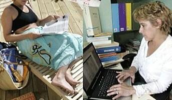 Arbeidsnarkomane sniker seg til å jobbe i ferien