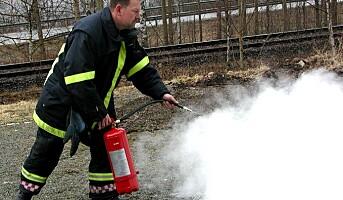 Feil på brannslokkingsapparater