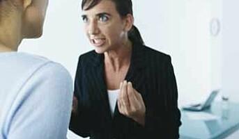 Hver tredje sjef tåler ikke kritikk