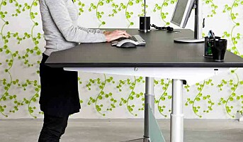 Bruker hev og senk-skrivebordet for lite