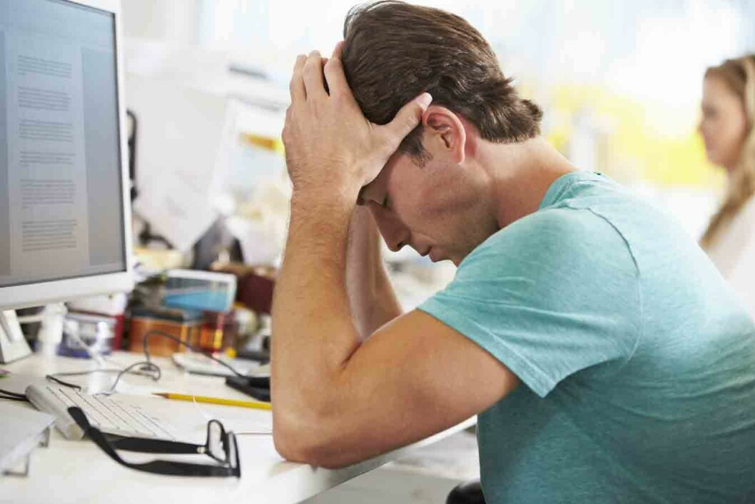 Digitalt-stress-mann