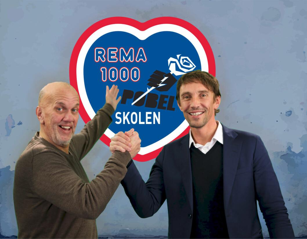 Pøbelgründer Eddi Eidsvåg og sponsorsjef Vidar Riseth i Rema 1000 har funnet tonen. (Foto: Rema 1000)