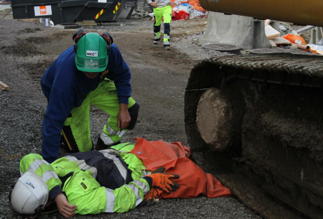 Bilde tatt på en av NCCs tidligere ulykkesøvelser.