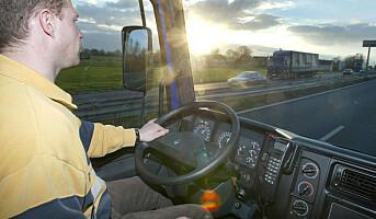 Yrkessjåfører sovner på jobb