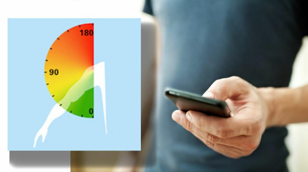 Ny app måler armbelastning. (Illustrasjon: Colourbox.com og Ergo Arm Meter)