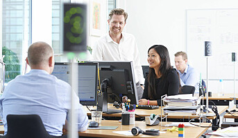Demper støyen i kontorlandskap