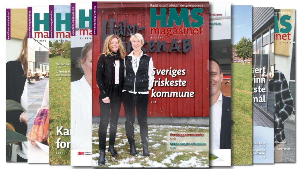 HMS-magasinet nummer 1 2017 er ute. (Forsidefoto: Jan Tveita)