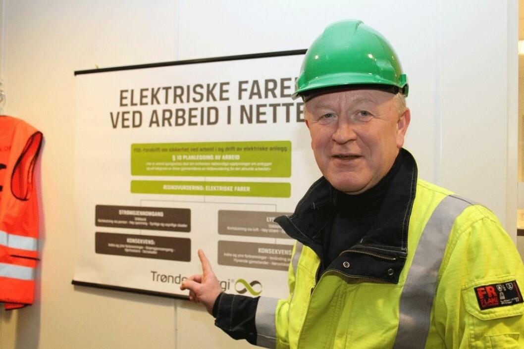 - TrønderEnergi Nett arbeider aktivt for å forebygge el-ulykker, forteller hovedverneombud Ole Tronhus. (Foto: Jan Tveita)
