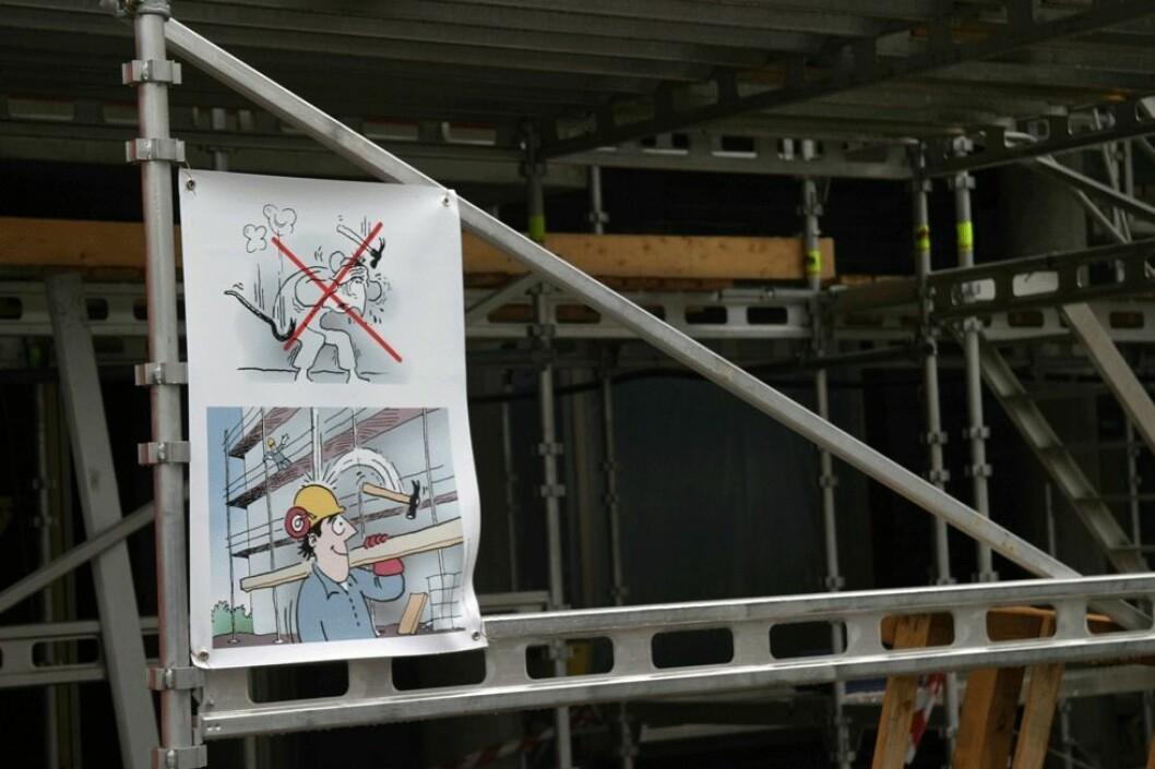 """Byggenæringen lanserte i 2008 """"Visualisering av god HMS"""" for å forebygge ulykker på byggeplassen. (Foto: Jan Tveita)"""
