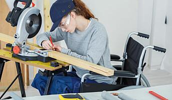 Færre unge funksjonshemmede i jobb