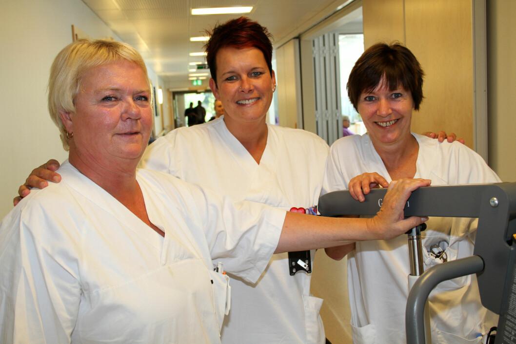 Brukt på riktig måte bidrar velferdsteknologien til å lette hverdagen til de ansatte i helse- og sosialsektoren. Bildet er fra Lillehammer Helsehus. (Foto: Jan Tveita)