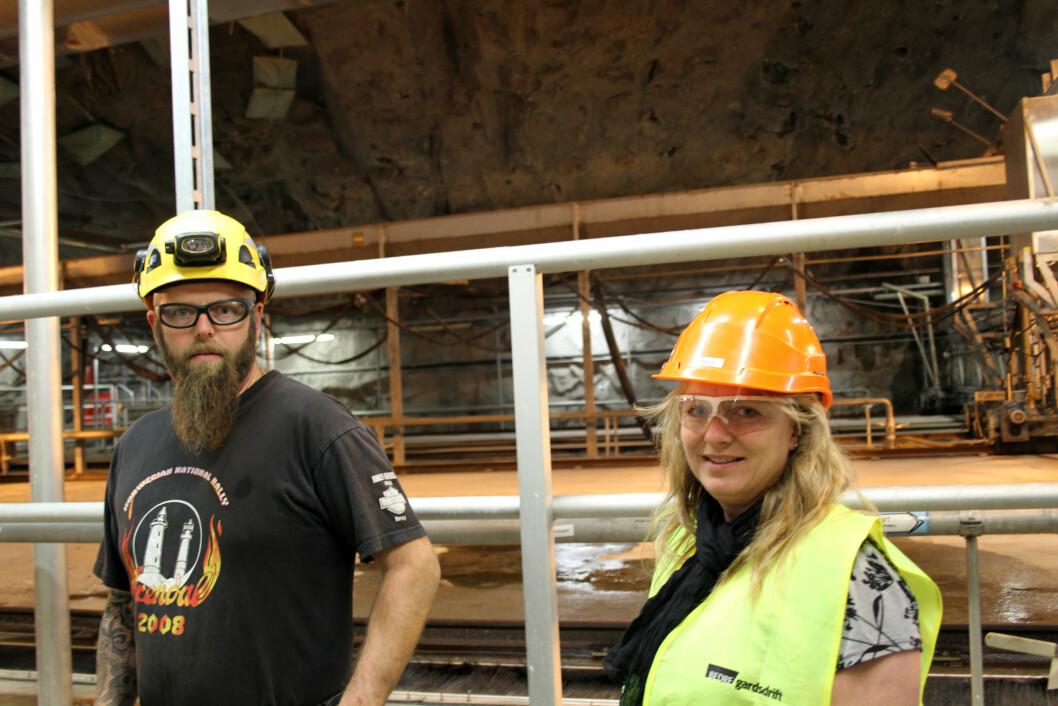 HMS- og kvalitetsleder Beate Jahr og verneombud Tommy Andersen i Bevas samarbeider tett for å forebygge arbeidsulykker ved Bekkelaget renseanlegg i Oslo. (Foto: Jan Tveita)