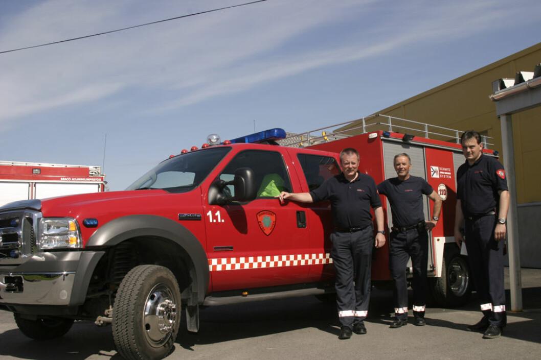 For brannmennene på Østre Toten er arbeidstiden trolig mer oppgavestyrt enn klokkestyrt. De opplever nok også risikofylt arbeid fra tid til annen. (Foto: Jan Tveita)
