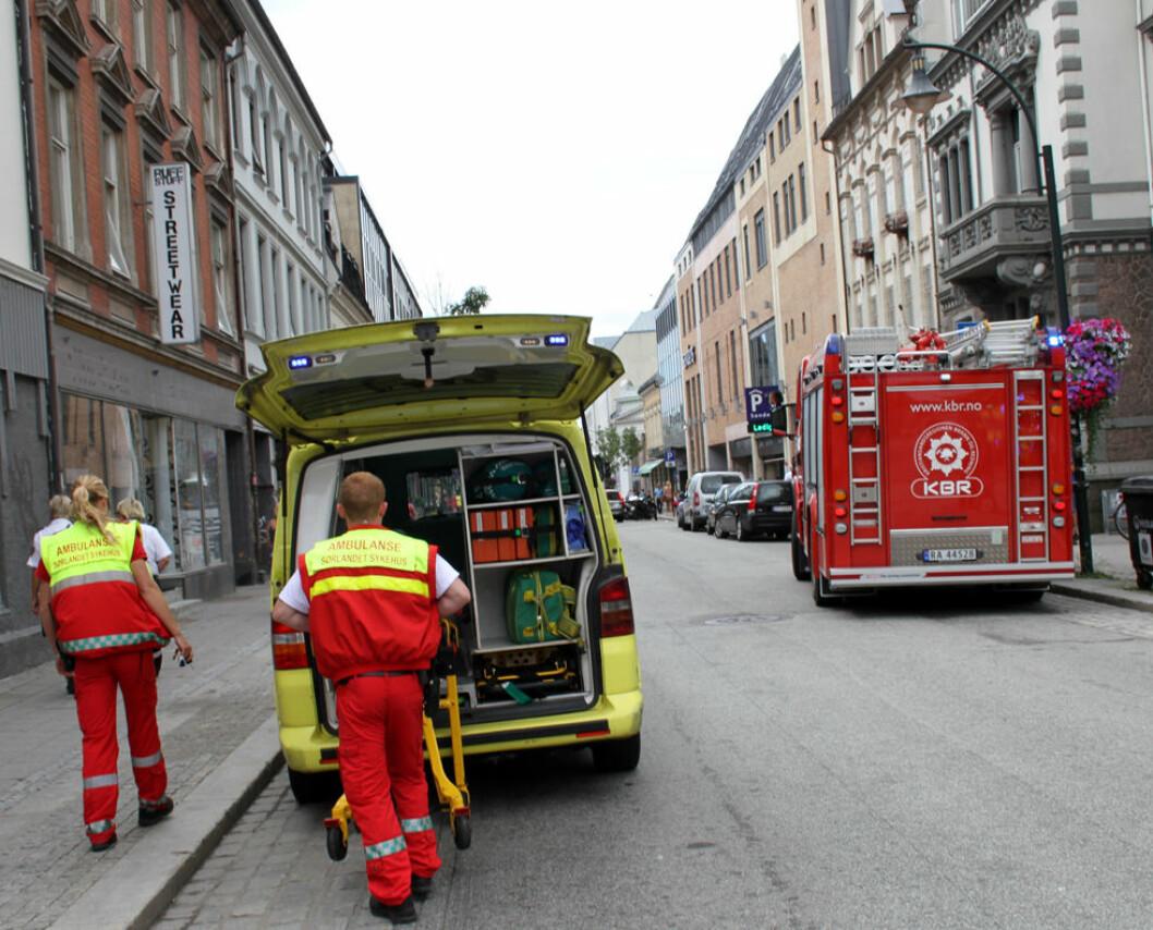 Heller ikke ambulansearbeidere er ukjente med å møte vold og trusler når de utfører jobben sin. (Foto: Jan Tveita)