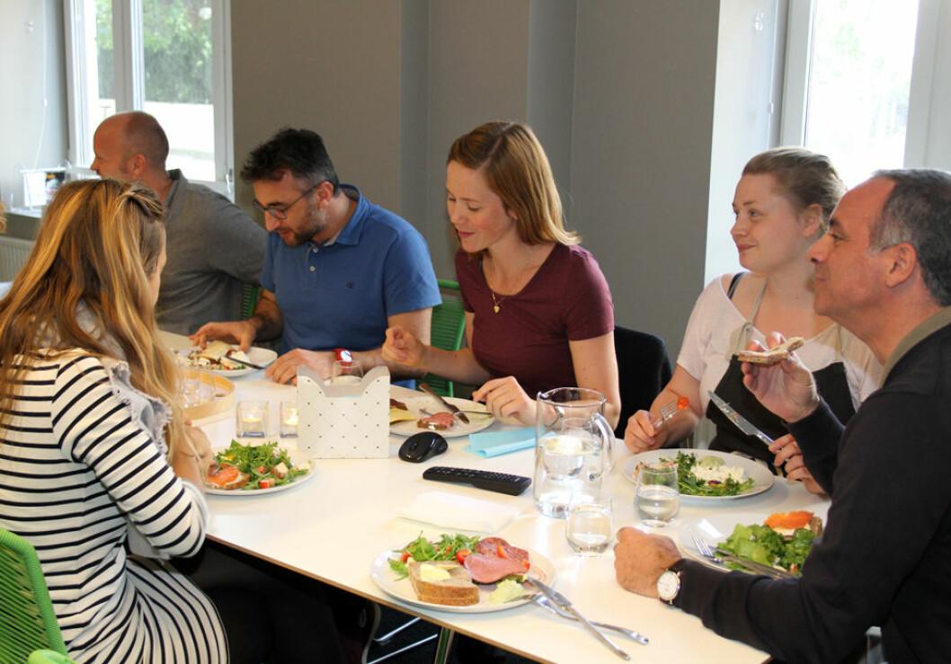 TAG Arkitekter i Oslo legger stor vekt på sunn og god mat på jobben. (Foto: Jan Tveita)