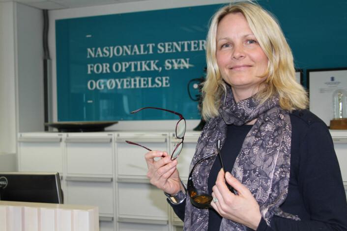 <em>Hanne-Mari Schiøtz Thorud er førsteamanuensis ved Institutt for optometri, radiografi og lysdesign ved Høgskolen i Sørøst-Norge. Hun har vært med i ekspertgruppa som har vurdert butikkansattes rett til databriller. (Foto: Jan Tveita)</em><br />&nbsp;