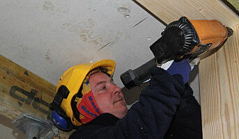 Tømrerne sliter mest i kulda