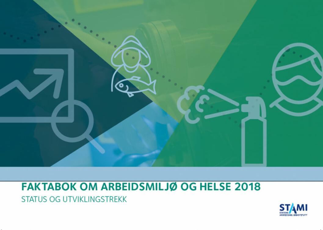 Faktabok om arbeidsmiljø og helse 2018. (Illustrasjon: STAMI)