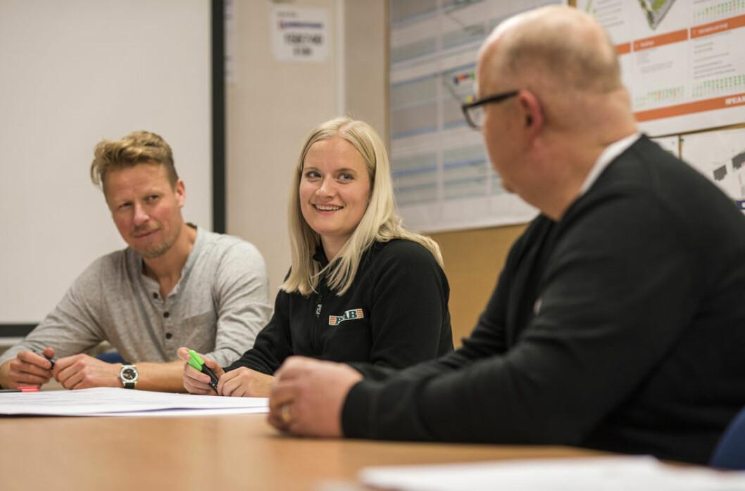 Dialogmøter er en viktig del av Peabs årlige HMS-uke. (Foto: Peab)