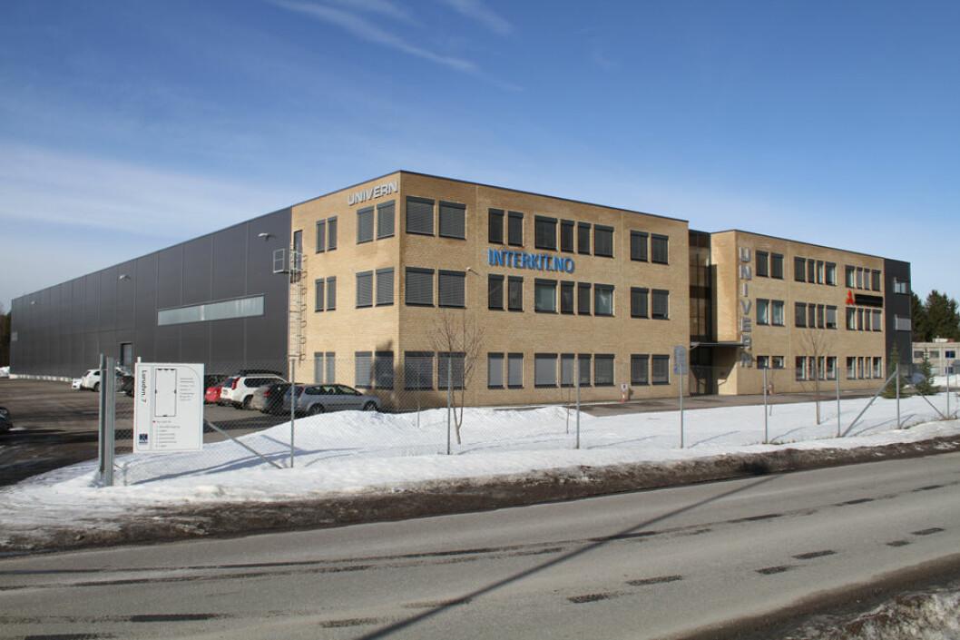 Hovedkontoret til Univern på Skedsmokorset i Akershus. (Foto: Jan Tveita)