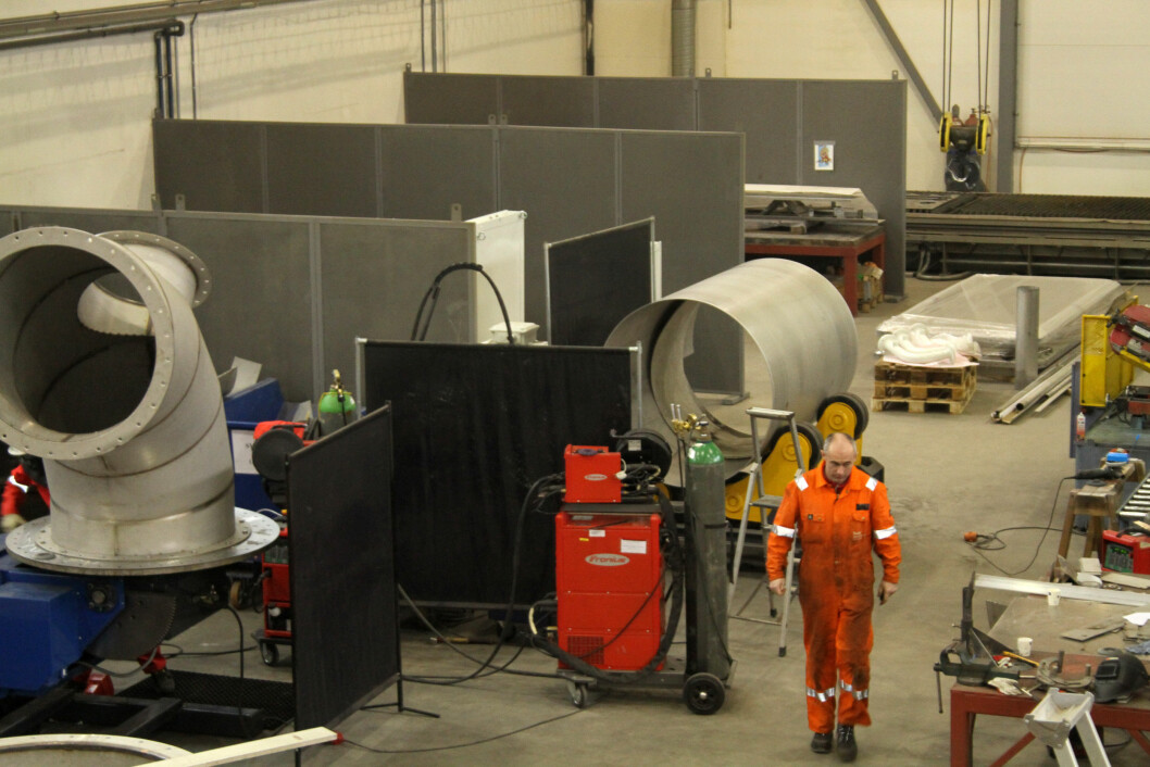 Industrien har nådd IA-målet om 20 prosent reduksjon i sykefraværet. Her fra Noble Installation i Rakkestad. (Foto: Jan Tveita)