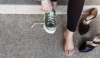 Høyhælte sko til besvær
