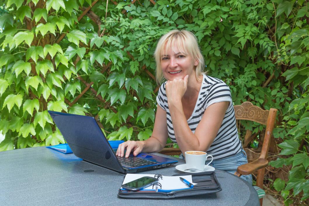 Å arbeide utendørs gir positive helseeffekter, mener svensk forsker. (Illustrasjonsfoto: Colourbox.com)