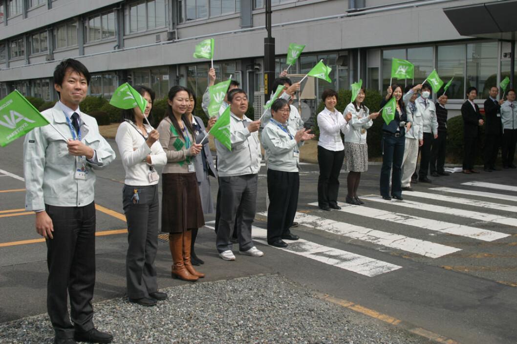 Den nye ILO-konvensjonen omfatter arbeidstakere over hele verden. Bildet viser Panasonic-ansatte i Yokohama i Japan. (Illustrasjonsfoto: Jan Tveita)