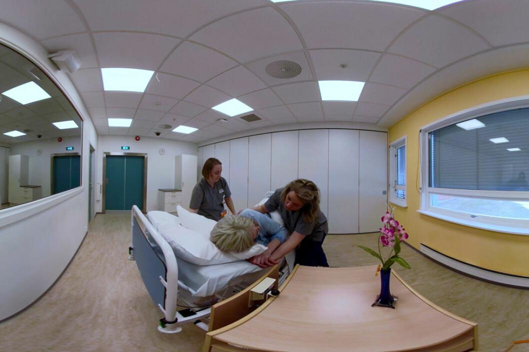 Ett av scenariene i prosjektet. (Foto: Sykehuset Innlandet)