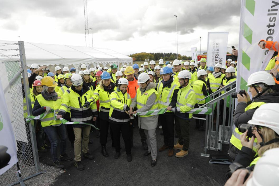 Sveriges første sikkerhetspark for byggeindustrien er åpnet. (Foto: Sveriges byggindustrier)