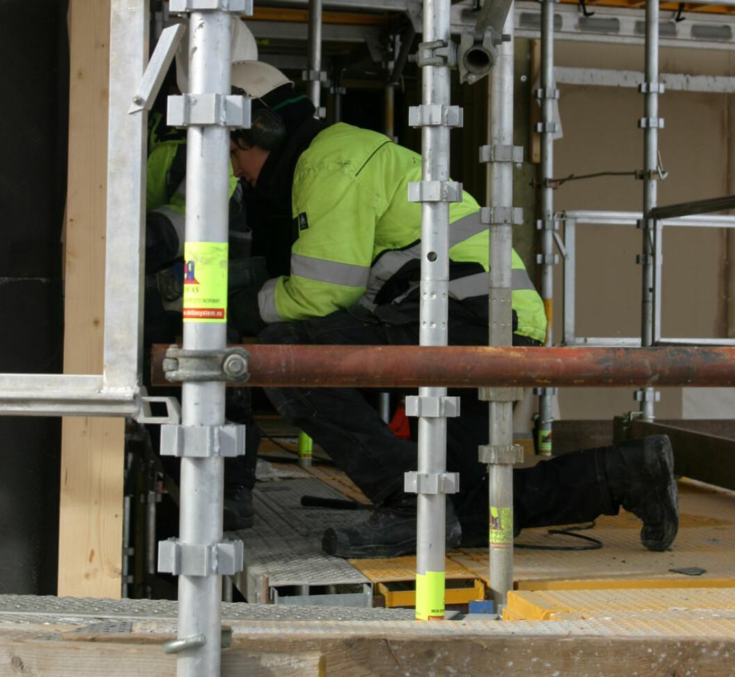 Bygningsarbeidere har lav diabetesrisiko. (Illustrasjonsfoto)