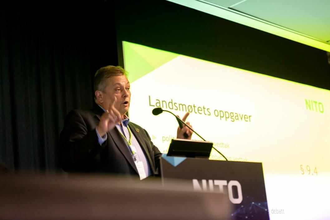 NITO-president Trond Markussen. (Foto: NITO/NTB Kommunikasjon)