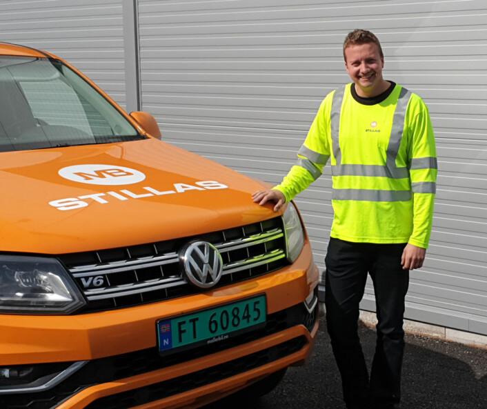 Ola Sondre Talåsen er avdelingsleder i MB Stillas på Skedsmo. (Foto: MB Stillas)