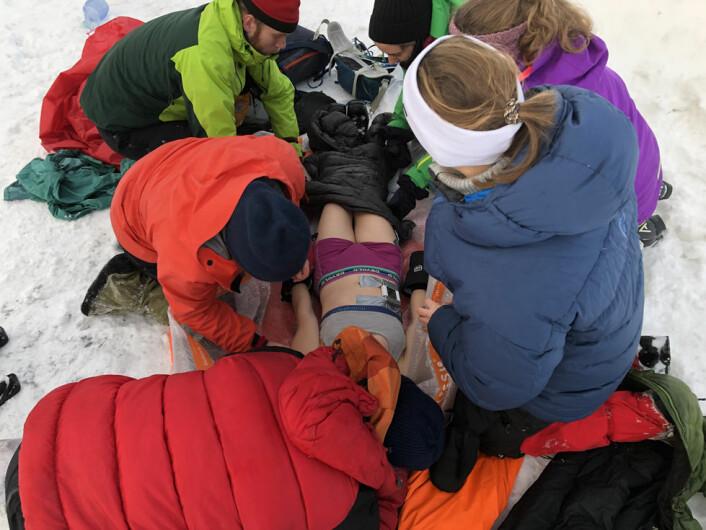 Det er livsfarlig å bli kraftig nedkjølt etter en ulykke. (Foto: Øyvind Thomassen)