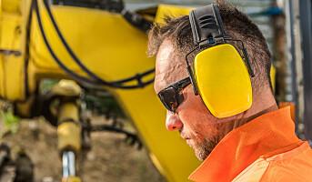 Ikke bruk hodetelefoner på jobb
