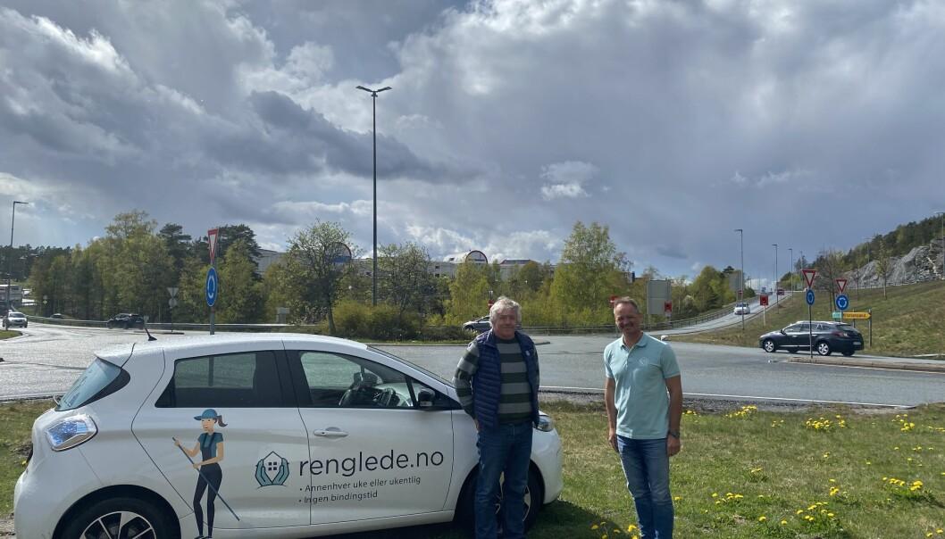 F. v. Åsmund Nyhus, daglig leder i SALIS Bedriftshelsetjenester, og Geir Nilsen, daglig leder Renglede.no.