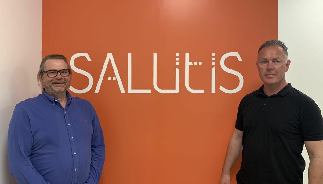 Daglig leder Trond Grønvold (t.h.) og utviklingsleder Knut Hellwege i Salutis HMS har gode erfaringer med ISO-sertifisering