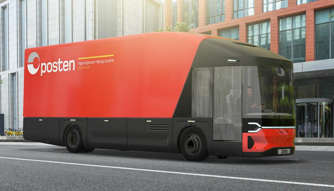 Posten er med og utvikler elektriske lastebiler som dette fra Volta.