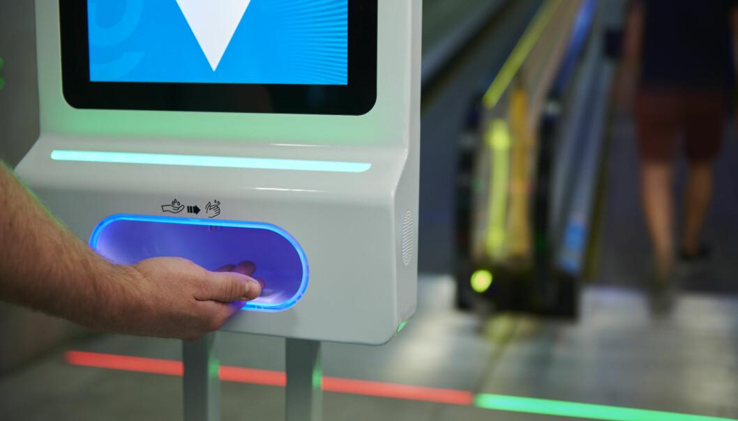 Automatisk dispenser for håndsprit.