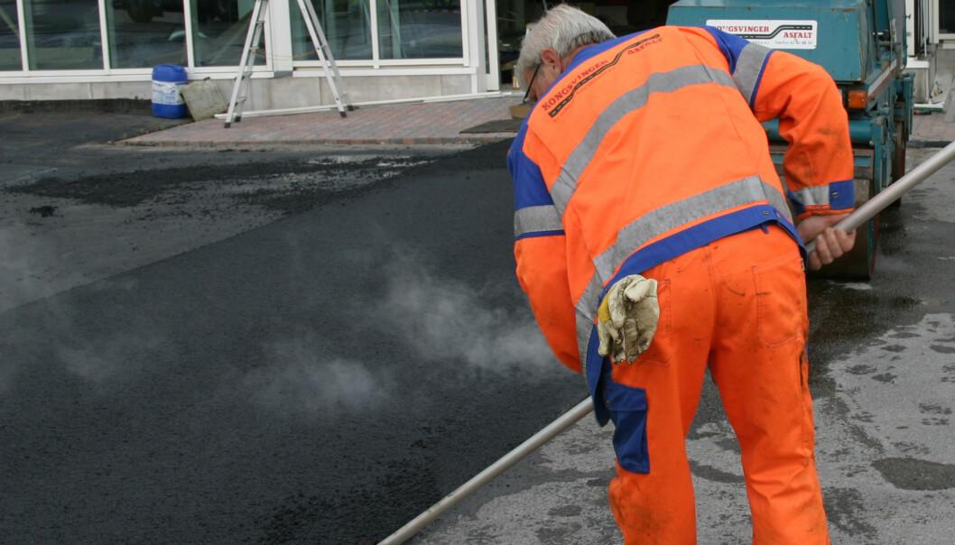 Asfaltarbeidere blir mindre utsatt for asfaltrøyk og damp ved bruk av lavtemperaturasfalt