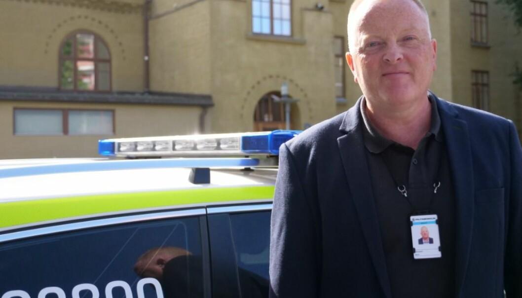 I GANG: Prosjektleder Bjørn Danielsen er på plass ved Politihøgskolen.