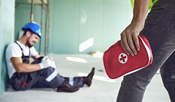 Fallulykkene dominerer fremdeles i arbeidslivet