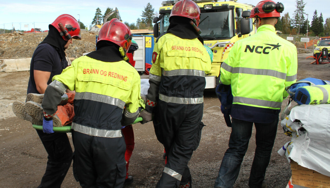 Bilde fra ulykkesøvelse hos NCC)