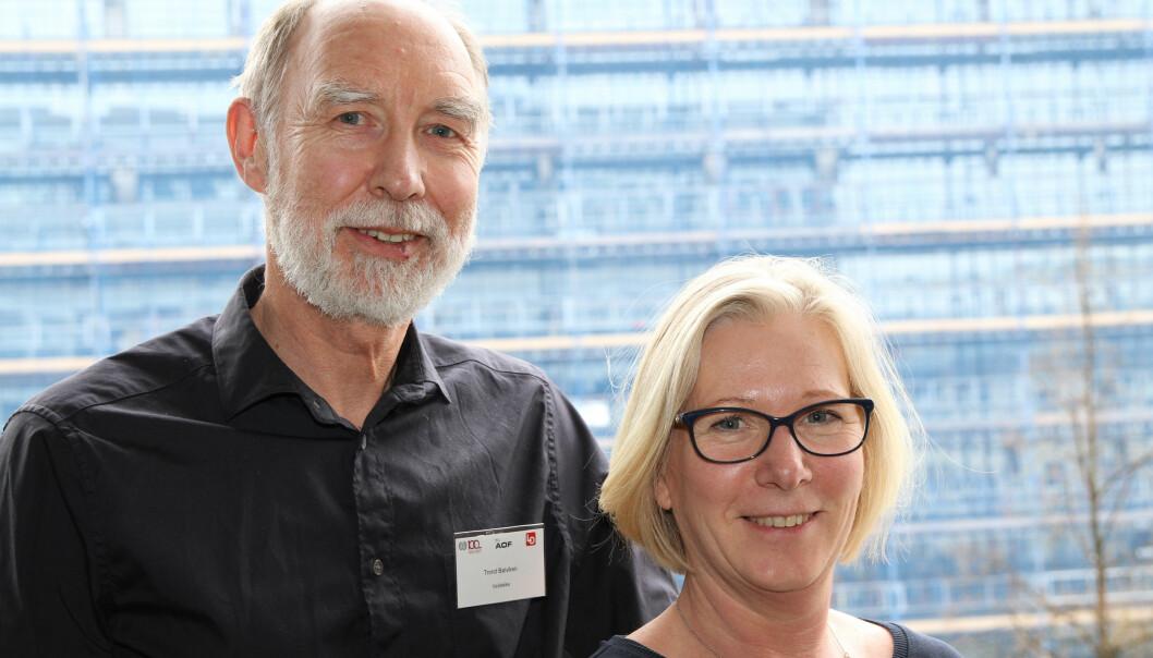 Samarbeid for sikkerhet (SfS) er en av arrangørene av HMS-konferansen, her ved styreleder Trond Bølviken og daglig leder Lene Jønsson.