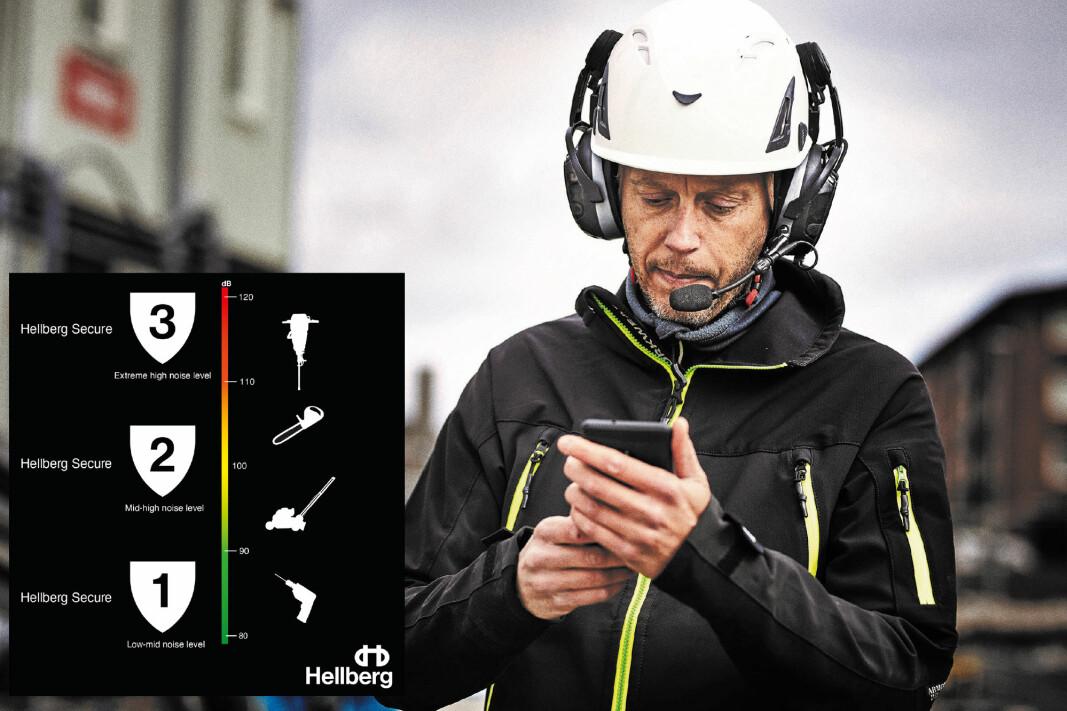 Bruk Hellberg beskyttelsesguide for å finne det hørselvern som passer støynivået du skal arbeide i.