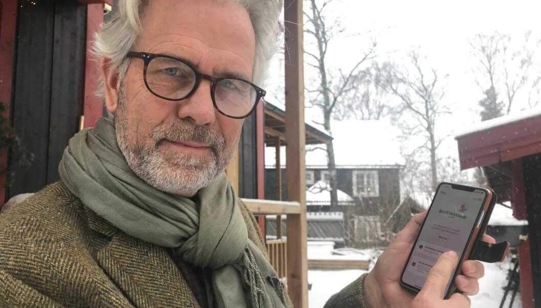 Jon Sandnes, adm. dir. i BNL anbefaler alle bedriftene i byggenæringen å ta Smittestopp-appen aktivt i bruk.