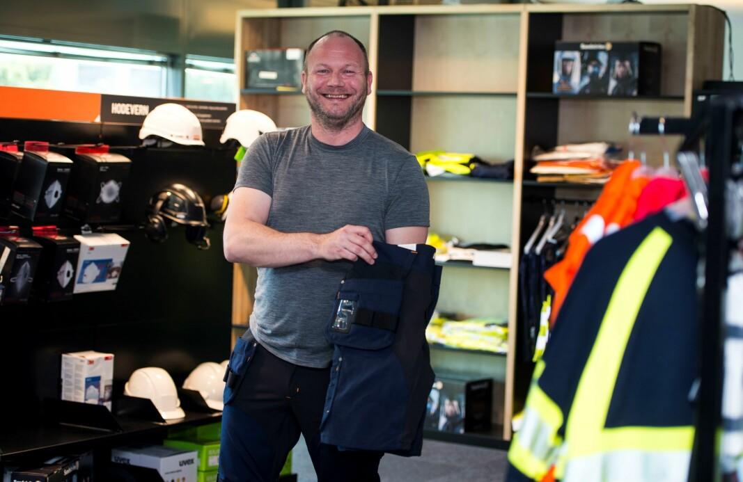 – Arbeidstøy for håndverkeren har fått mer moderne design, forteller Jan Asle Espeland.