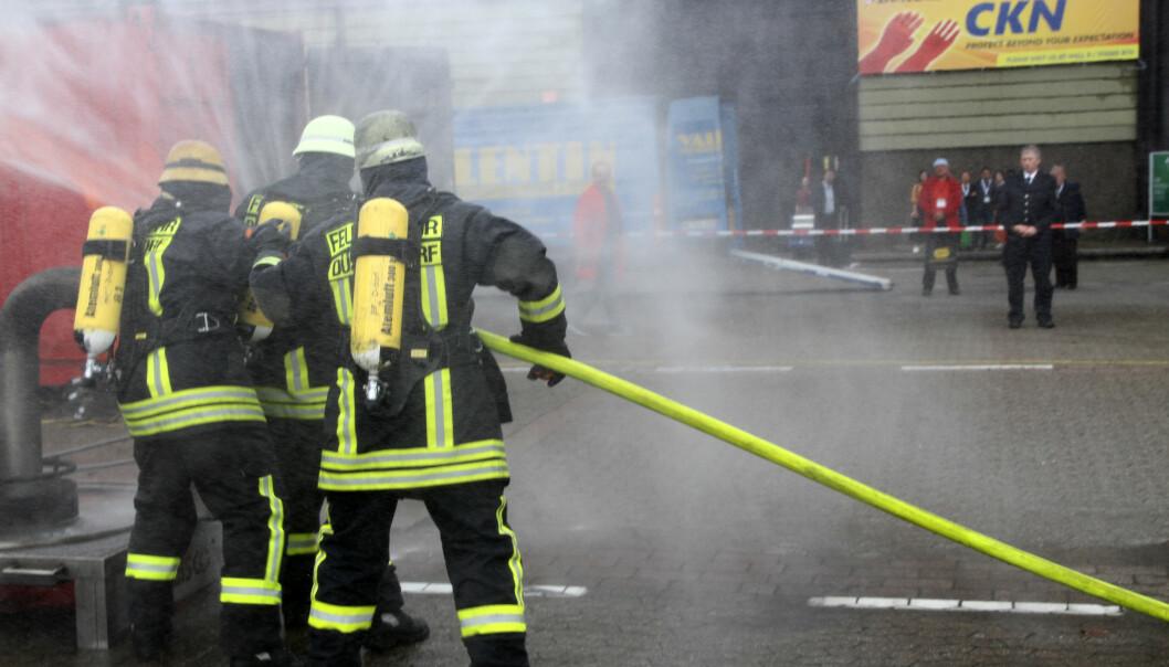 Brannøvelse i Düsseldorf.