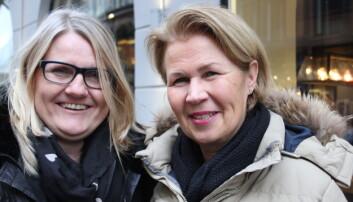 To ildsjeler i Pårørendealliansen gjennom flere år: F. v. Anne-Grethe Terjesen og Anita Vatland.