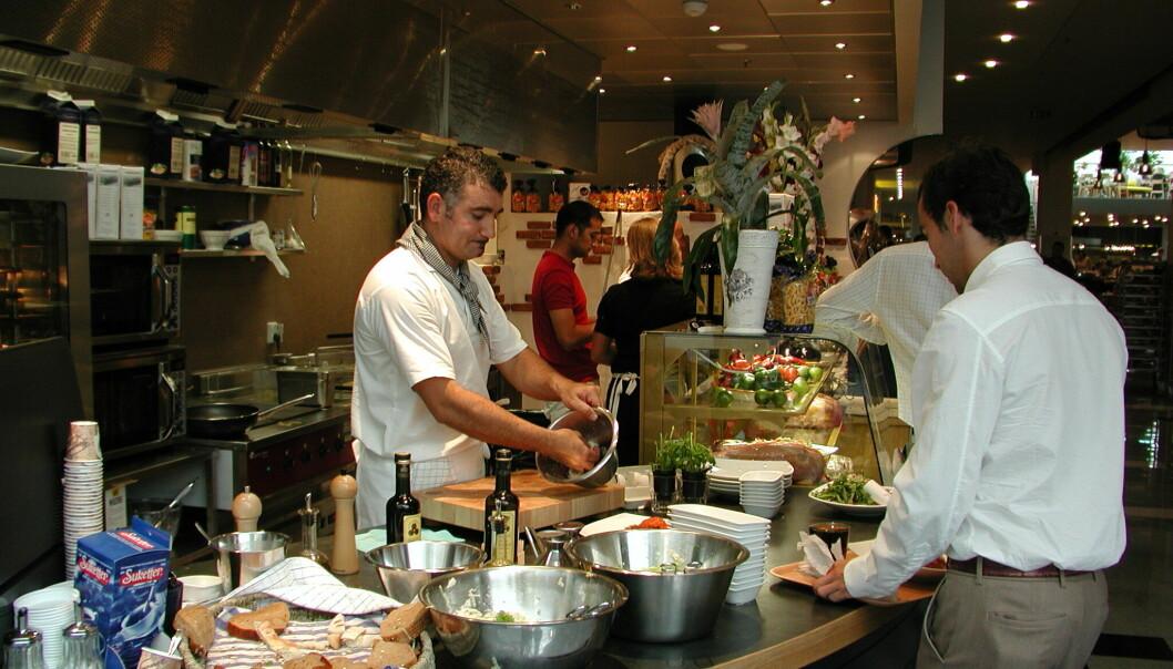 I hotell, restaurant og servering øker den ubekvemme arbeidstiden.